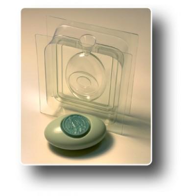 """3D Пластиковая форма для мыла """"Овал-круг"""""""
