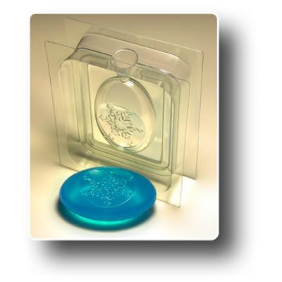 """3D Пластиковая форма для мыла """"Овал - Снежинка"""""""