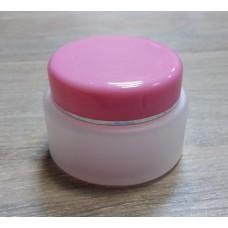 Банка для крема с розовой крышкой , 30 мл