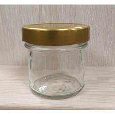 Банка стеклянная Твист с золотой крышкой (Deep), 130 мл