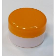 Банка для крема с оранжевой крышкой, 20 грамм