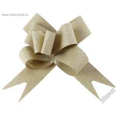 Бант-бабочка для упаковки Серый серебристый