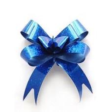 Бант-затяжка синий, 1 шт.