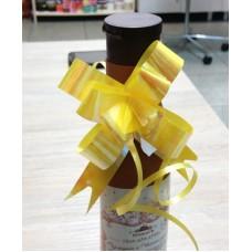 Бант-затяжка для упаковки подарков Желтый