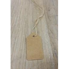 Бирка крафт для изделия (маленькая) 2 см х 3,5 см