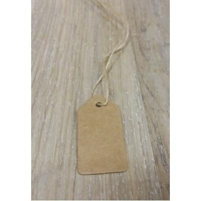 Бирка крафт для изделия (маленькая) 2 см х 4 см