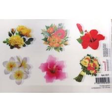 Картинки водорастворимые лист А5  Цветы (арт. 017)