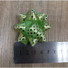 Бант подарочный самоклеющийся Зеленый 4,5 см