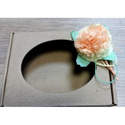 Декор - цветок для коробочек, крафт-пакетов, 1 шт