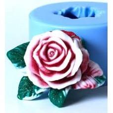 """Дизайнерская форма для мыла """"Роза с листочками"""""""