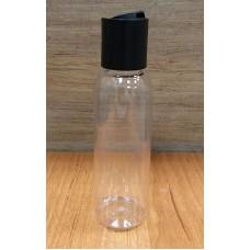 Флакон прозрачный для косметики с крышкой флип-топ, 100 мл (Д24 мм)