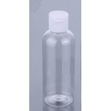 Флакон прозрачный для косметики с крышкой флип-топ, 100 мл