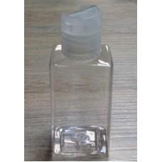 Флакон прозрачный куб с крышкой флип-топ, 50 мл