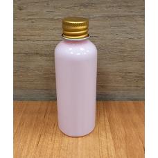 Флакон ПЭТ розовый с золотой крышкой, 50 мл