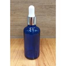 Флакон из Синего стекла прозрачный с пипеткой 50 мл