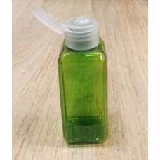 Флакон зеленый прозрачный для косметики флип-топ, 50 мл