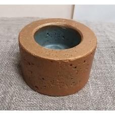 Горшок бетонный для свечи Бронза (диаметр 4,5 см)