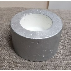 Горшок бетонный для свечи Серебро (диаметр 4,5 см)