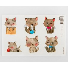 Картинки водорастворимые лист А5  Кошки