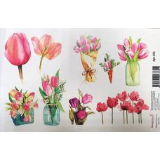 Картинки водорастворимые лист А5  Цветы 1
