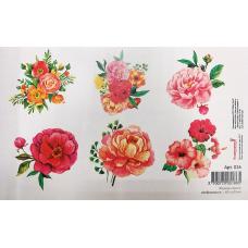 Картинки водорастворимые лист А5  Цветы 2