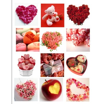 Картинки водорастворимые лист А4 Сердца