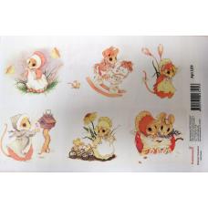 Картинки водорастворимые лист А5 Мышки 1