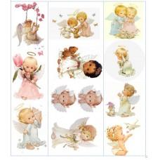 Картинки на водорастворимой бумаге А4  Ангелы