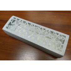 Коробка-пенал самосборная Серебро 8х25 см