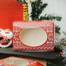 """Коробка с окошком """"Скандинавская коллекция (красная)"""" 15,5 х 11 х 4 см"""