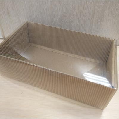 Коробка Крафт 24 см х 14 см с прозрачной крышкой