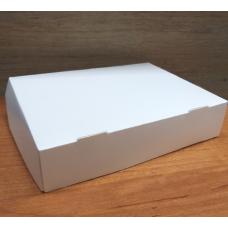 Коробка белая самосборная (глянец) 18х13х4 см