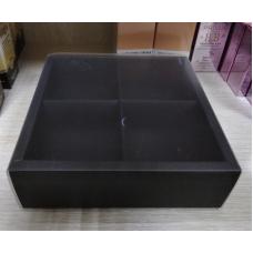 Коробка Черная с матовой крышкой 4 секции