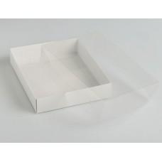 Коробка для печенья 16х13 см с прозрачной крышкой