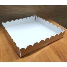 Коробка для сладостей крафт с прозрачной крышкой 18х18 см