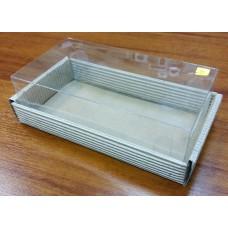 Коробка из гофрокартона с прозрачным верхом 18х10 см