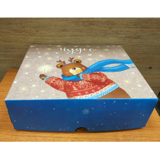 Коробка картонная с принтом Мишка 20х17 см