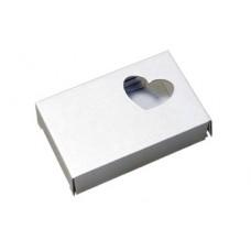 Подарочная коробочка картонная Сердечко белая