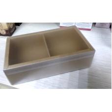 Коробочка крафт две секции с матовой крышкой