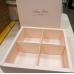Коробка квадратная For You розовая 16х16 см