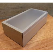 Коробка - пенал с пластиковой крышкой 16 х 8 см