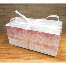 Коробка розовая Хорошее настроение 16х8х7,5 см
