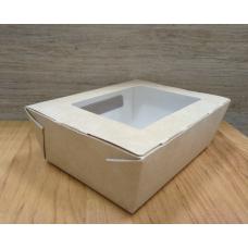 Коробка Крафт с окошком 15х10х5 см