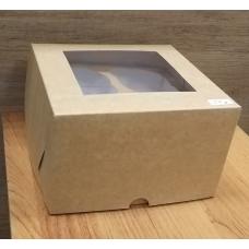 Коробка картонная с окном 16х16х10 см