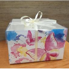 Коробка с прозрачной крышкой Люблю 16х16 см