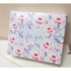 Коробка картонная с принтом Сиреневые Цветы 20х17 см