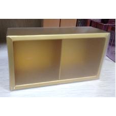 Коробочка позолоченная с матовой крышкой 2 секции
