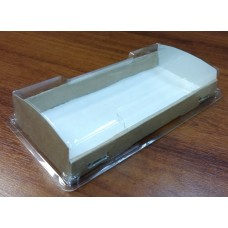Коробка прозрачная с картонным дном 19 х 10 см