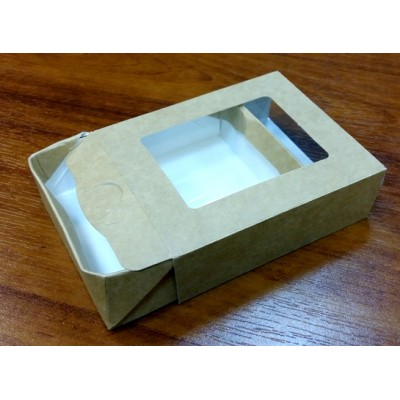 Коробочка выдвижная 8х10 см с прозрачным верхом