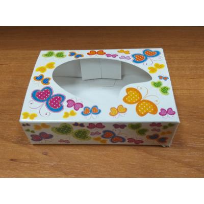 Коробочка белая с Бабочками 9 х 6,5 см